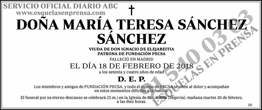 María Teresa Sánchez Sánchez
